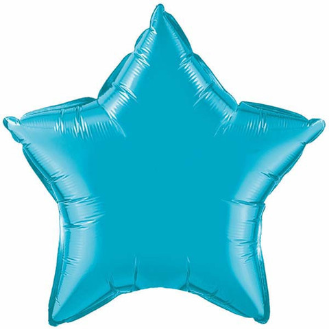 "Turquoise Star 20"" Foil Balloon"
