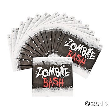 50% Off: Zombie Party Beverage Napkins 16 Pk