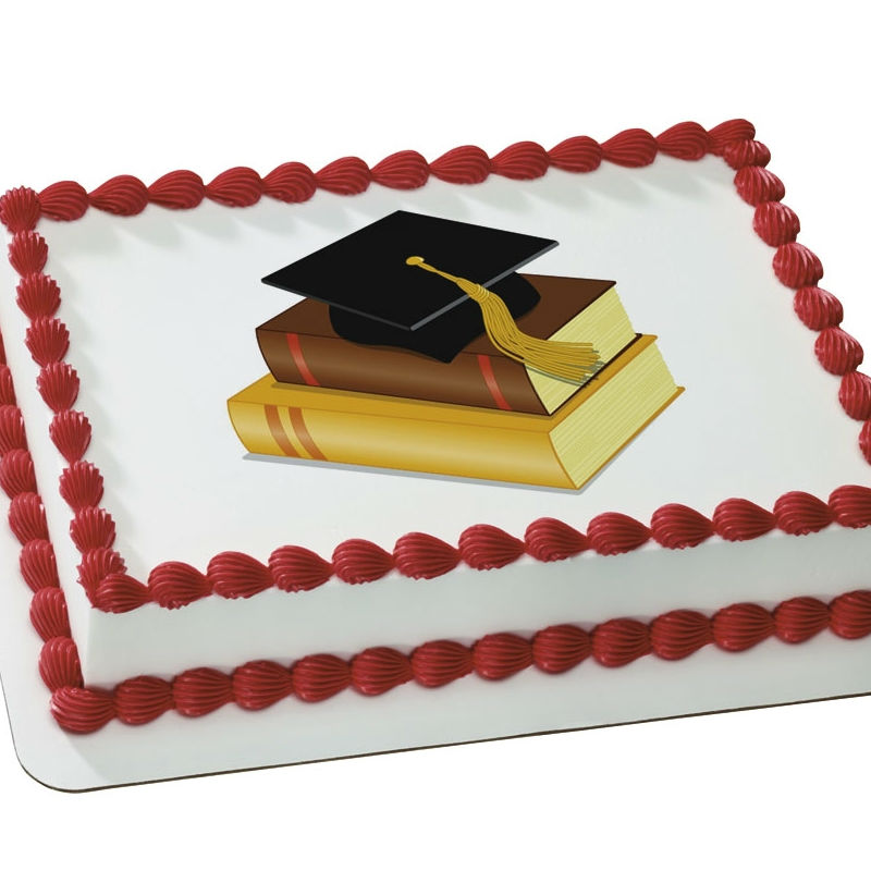 Edible Cake Images For Graduation : Graduation Photo Cakes and Cupcake Decor Party Supplies ...