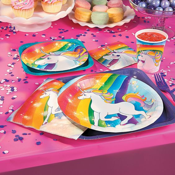 *Unicorn Rainbow Party Pack for 8
