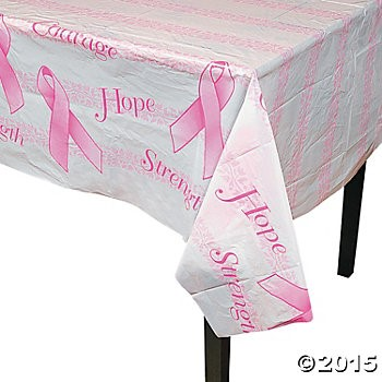 Breast Cancer Plastic Tablecloth