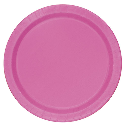 Hot Pink Round Dinner Plates Big 16 Pack