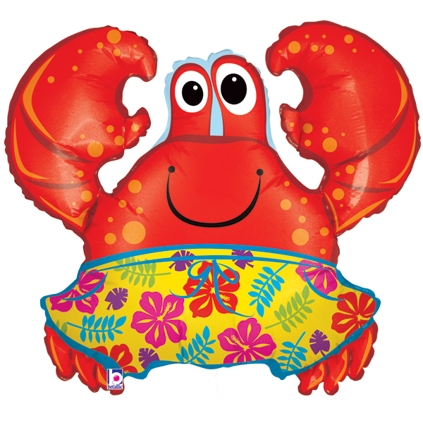 Beach Crab 3 Foot Foil Balloon