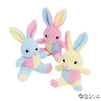 Plush Honeycomb Easter Bunnies 12 Pack