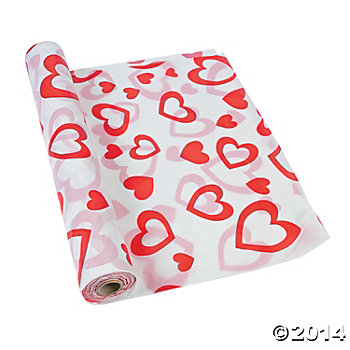 Valentines Day 100 Foot Tablecover Roll
