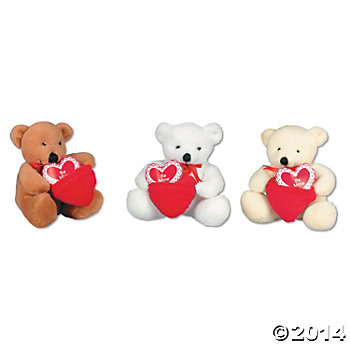 Valentine Plush To/From Pocket Bears - 12 Pack