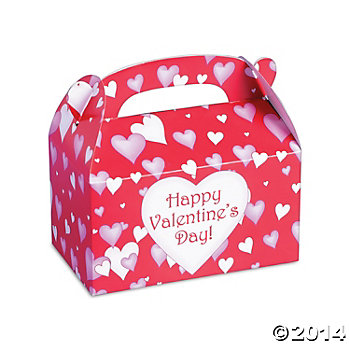 Happy Valentines Large Loot Boxes - 12 Pk