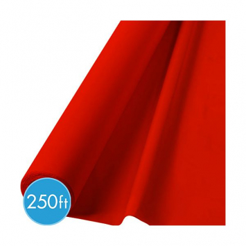 Red Extra Long Tablecloth Roll - 250ft.