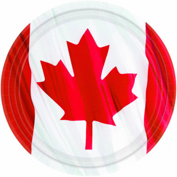 60% OFF: Deluxe Canada Flag Dinner Plates - Big 10 Pack