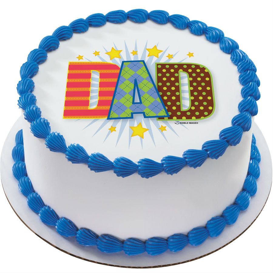 DAD Argyle Edible Image Cake Topper
