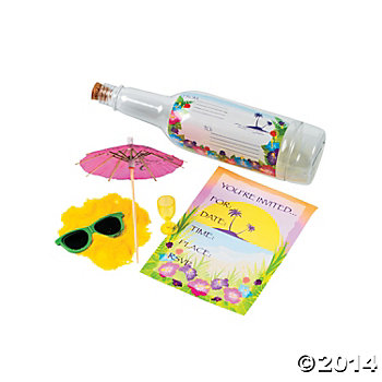 Tropical Invites in a Bottle - 12 Pk