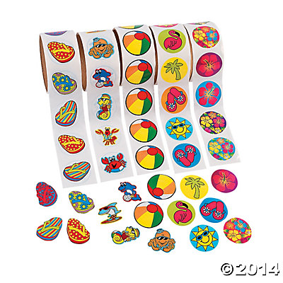 *Tropical Stickers 500 Pack
