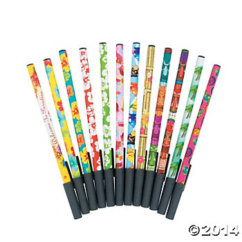 Tropical Stick Pens - 72 Pack