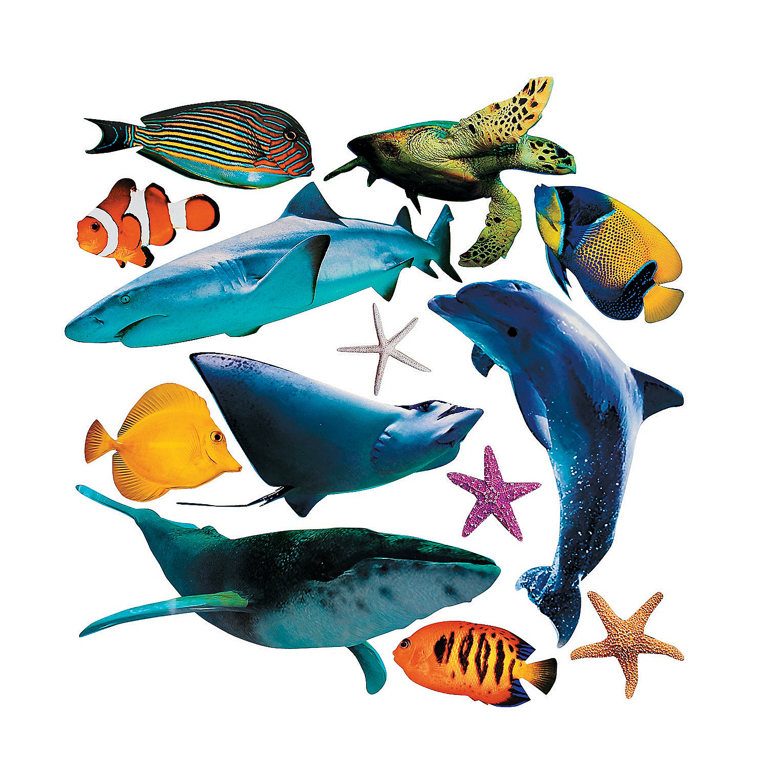 Jumbo Sea Life Cutouts - 13 pcs.
