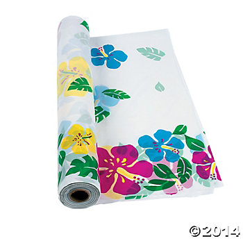 Hibiscus Tablecloth Roll - 100ft.