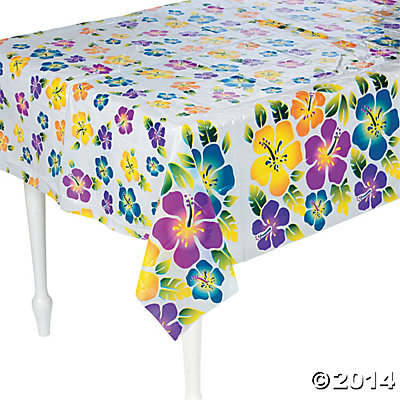 Luau Hibiscus Tablecloth