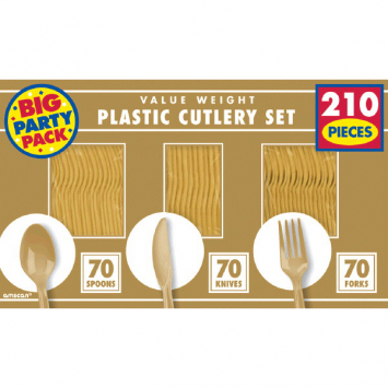 50% OFF: Gold Assorted Cutlery BIG 210 Pk