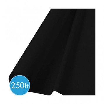 Black Extra Long Tablecloth Roll - 250ft
