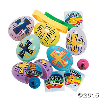 Religious Toy Filled Easter Eggs - 24 Pk