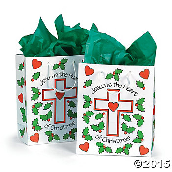 Jesus is the Heart Gift Bags - 12 Pk