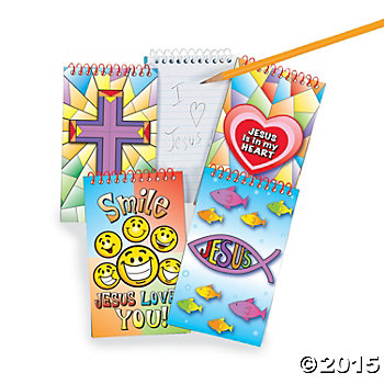 Religious 30 Pg. Spiral Notepads - 24 Pk