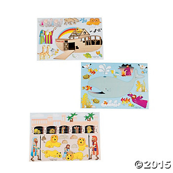 Religious Bible Story Sticker Sheets - 12 Sheets