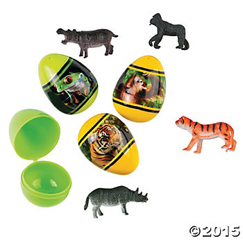 Animal Toy Filled Animal Eggs - 12 Pack