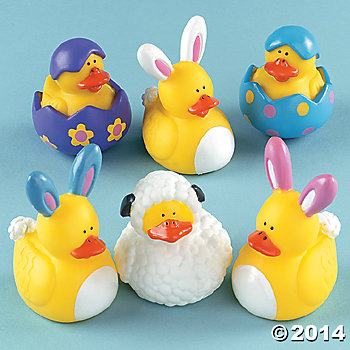 Easter Rubber Duckies 12 Pk