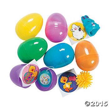 Bright Toy Filled Eggs - 24 Pk