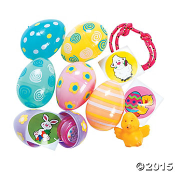 Toy Filled Printed Eggs - 24 Pack