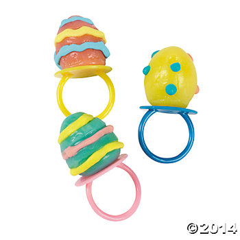 Egg Shaped Sucker Rings 12 Pk