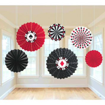 50% OFF: Casino Hanging Fans - 6 Pk