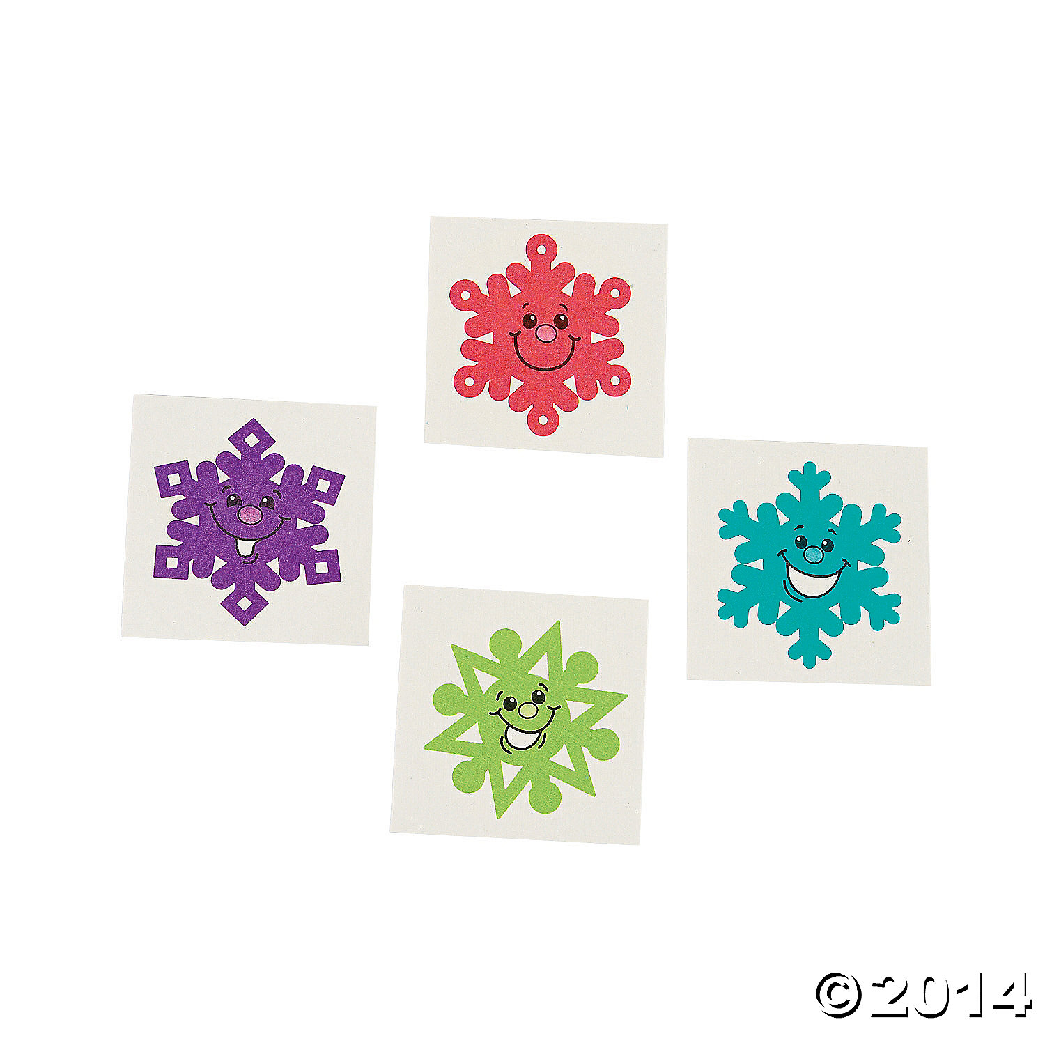 Snowflake Tattoos 8pk