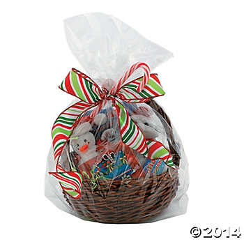 Clear Cellophane Basket Bags - 50 Pack