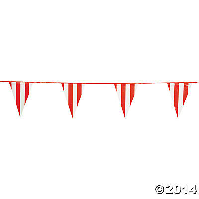 Red and White Giant 100 Ft. Pennant Banner