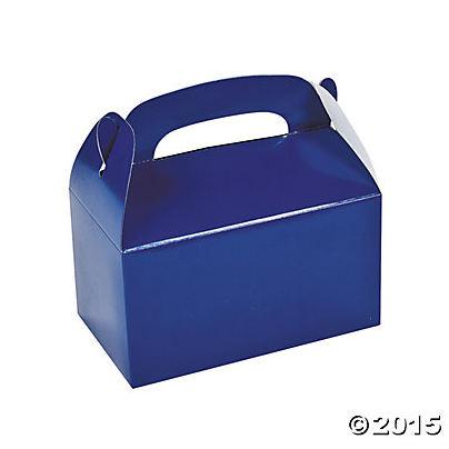 Blue Treat Boxes - 12 Pk