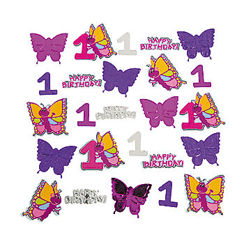 Butterfly 1st Large Table Confetti Bag