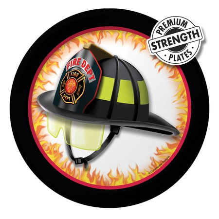 Fire Department: Premium Dessert Plates 8 Pk