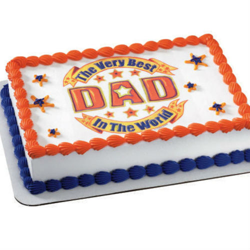Very Best Dad Edible Image Cake Topper