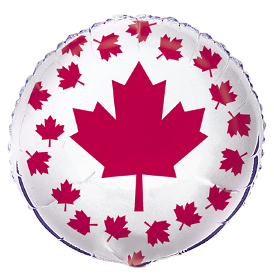50% OFF: Canadian Flag Large Foil Balloon