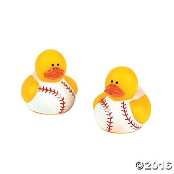 Baseball Rubber Ducks 2 Pack