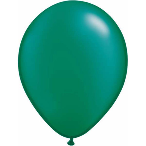 "Pearl Emerald Green 11"" Latex Balloons 100 Pk"