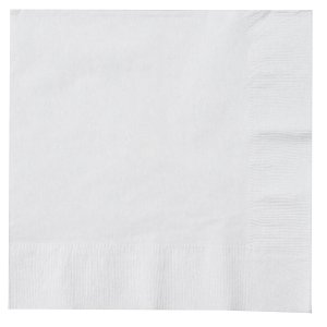 White Party Supplies: Bright White Lunch Napkins 50 Pk