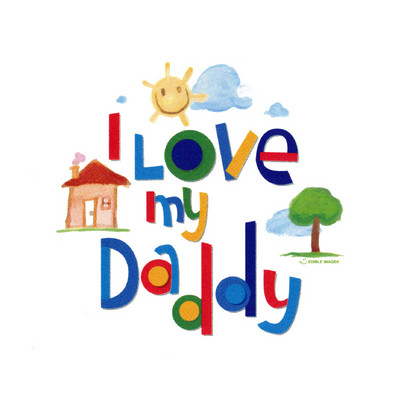 Love My Daddy Edible Image Cake Topper
