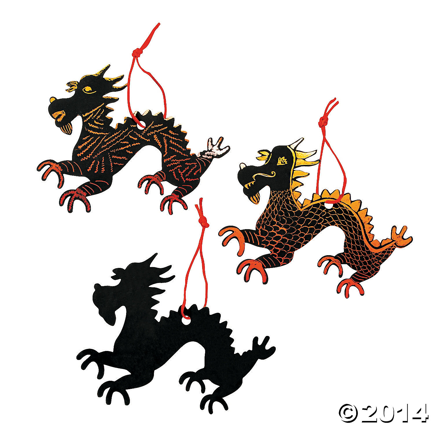 Magic Scratch Chinese New Year Dragons 24 Pk