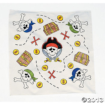 Color Your Own Pirate Bandanas - 12pk