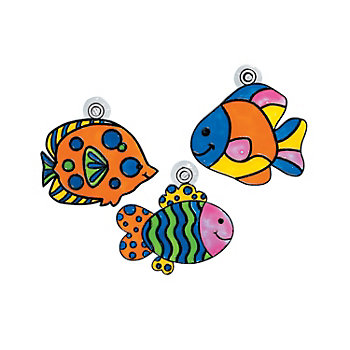 Fish Color Your Own Suncatchers - 12 Pk