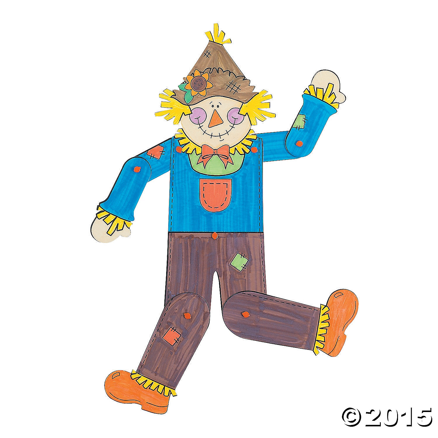 Color Your Own! Jointed Scarecrows 12 Pk