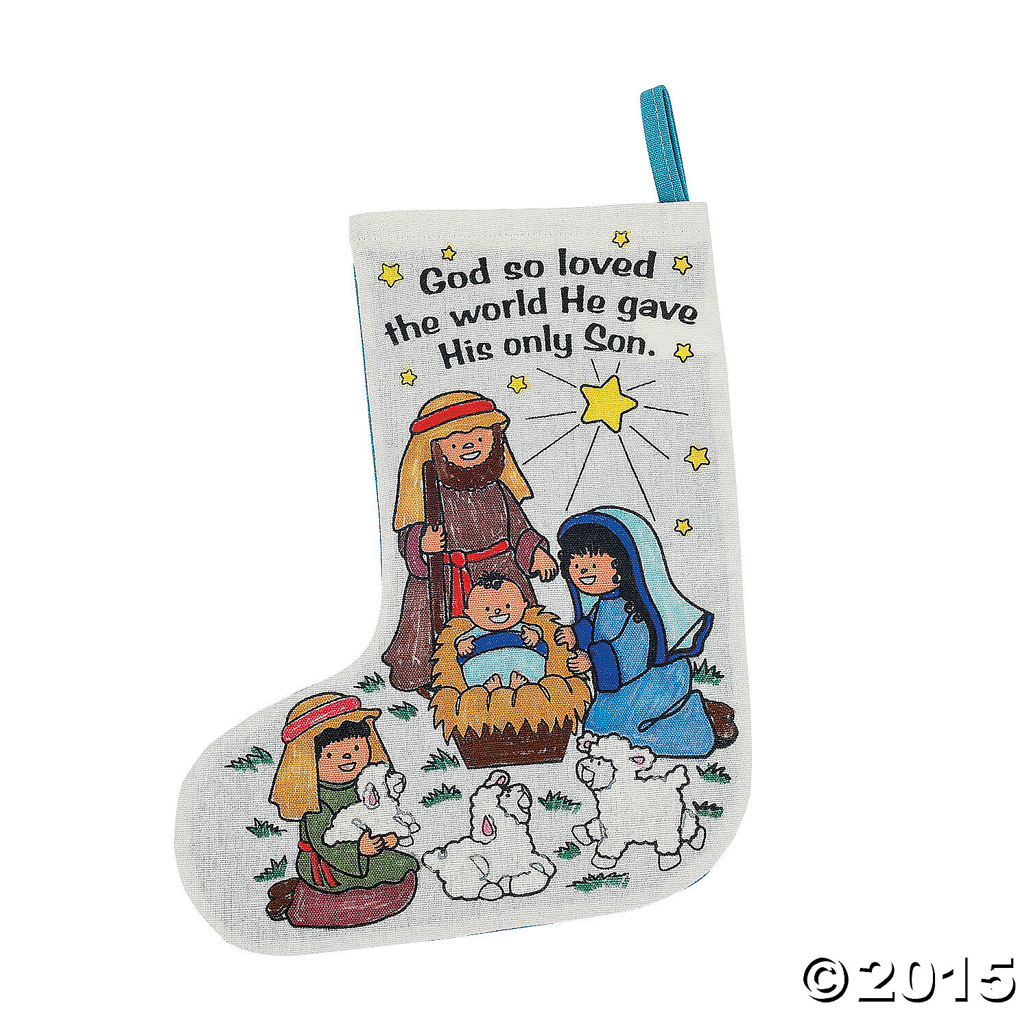 Color Your Own Religious Christmas Ornaments: Religious Colour Your Own Nativity Stockings