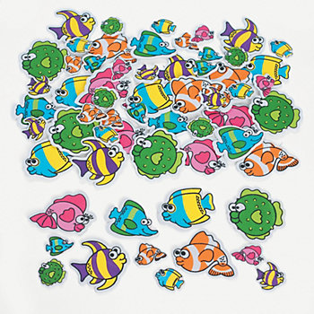 Fish Self Adhesive Foam Shapes 500 Pk